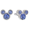 Disney Earrings - Mickey Icon - Crystal Studs - Blue