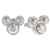 Disney Earrings - Mickey Icon - Crystal Studs - Clear