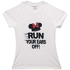 Disney LADIES Shirt - RunDisney Run Your Ears Off - Minnie Mouse White