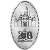 Disney Pressed Quarter - 2016 Cinderella Castle