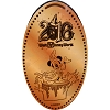 Disney Pressed Penny - 2016 Sorcerer Mickey Waves
