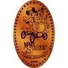Disney Pressed Penny - Mickey & Minnie Mouse Horseless Carriage