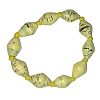 Disney EPCOT Recycled Paper Bracelet - Yellow Beads