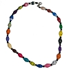 Disney EPCOT Recycled Paper Choker Necklace - Multi-Color Beads
