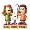 Peanuts by Jim Shore Figurine - Marcie and Peppermint Patty