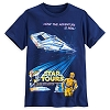 Disney ADULT Shirt - Star Tours Attraction Poster - Disneyland