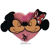 Disney Antenna Topper - Valentines Day Heart Mickey and Minnie Mouse