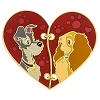Disney Couples Pin - Heart Shaped Lady and the Tramp