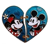Disney Couples Pin - Heart Shaped Mickey and Minnie Mouse