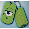 Disney Engraved ID Tag - Monsters Inc - Mike Wazowski