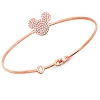 Disney Bracelet - CZ Mickey Mouse Icon - Rose Gold