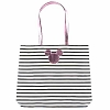 Disney Tote Bag - Pink Metallic Mickey Icon Striped