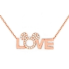 Disney Necklace - Love Mickey Icon by Crislu - Rose Gold