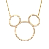Disney Necklace - Mickey Icon Silhouette by Crislu - Yellow Gold