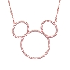 Disney Necklace - Mickey Icon Silhouette by Crislu - Rose Gold