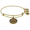 Disney Alex and Ani Charm Bracelet  - Star Wars Yoda Bangle - Gold