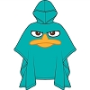 Disney Rain Poncho - YOUTH - Phineas & Ferb - Perry Face
