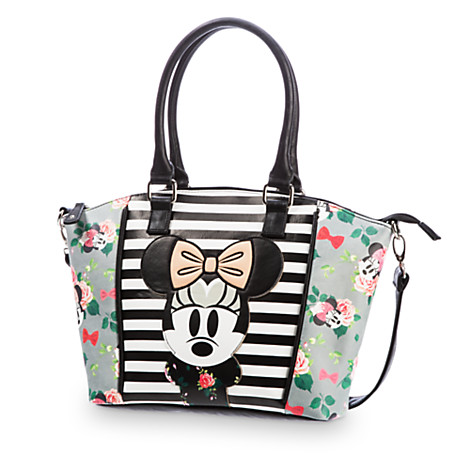 Your WDW Store - Disney Loungefly Satchel Bag - Floral Minnie Mouse Crossbody