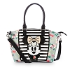 Disney Loungefly Satchel Bag - Floral Minnie Mouse Crossbody