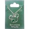 Disney Sterling Silver Necklace - Mickey Icon with Clover by Kit Heath