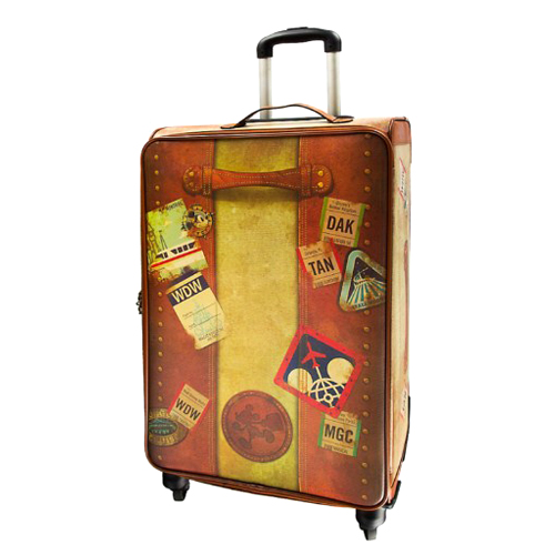 Your WDW Store - Disney Rolling Luggage - T.A.G. Disney Vintage 28''