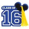 Disney Antenna Topper - Graduation - Class of 2016