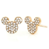 Disney Earrings - Mickey Icon Studs by Crislu - Yellow Gold