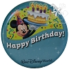 Disney Souvenir Button - Happy Birthday - Mickey Mouse