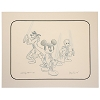 Disney Artist Sketch - Star Wars - Jedi - Mickey Donald Goofy - Blue