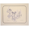 Disney Artist Sketch - Star Wars - Jedi Trio - Mickey Donald Goofy - Purple