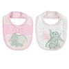 Disney Bibs - Two Pink and White Dumbo Bibs