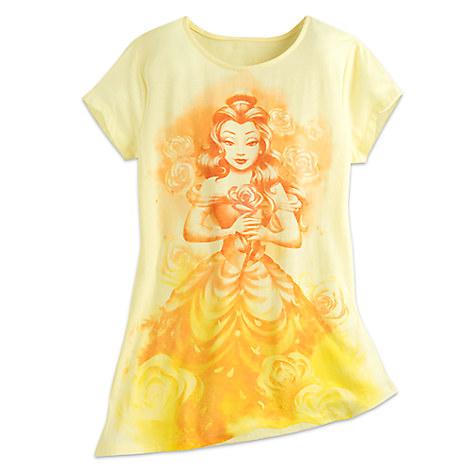 Your Wdw Store Disney Ladies Shirt Belle Watercolor