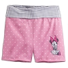 Disney Girls Shorts - Minnie Mouse Gingham - Pink and Grey