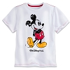 Disney CHILD Shirt - Mickey Mouse Flocked Tee for Boys