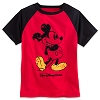 Disney CHILD Shirt - Mickey Mouse Raglan Tee for Boys - Red / Black