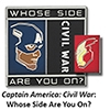 Disney MARVEL Pin - Captain America Cicil War - Whose Side Are You on?