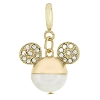 Disney Dangle Charm - Mickey Icon Pearl and Rhinestone