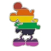 Disney Mickey Pin - Silhouette Rainbow Body