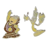 Disney Beauty and the Beast Pin Set - Lumiere and Cogsworth