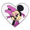 Disney Minnie Pin - Glamor Minnie - White Heart