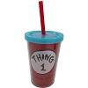 Universal Plastic Tumbler with Straw - Dr. Seuss - Thing 1