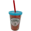 Universal Plastic Tumbler with Straw - Dr. Seuss - Thing 2