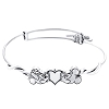 Disney Alex & Ani Bracelet - Mickey & Minnie Slider Bangle - Silver