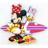 Disney Kitchen Magnet - Minnie and Daisy Surfboard