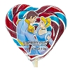 Disney Candy Co. - Cinderella & Prince Strawberry Lollipop - 4 oz