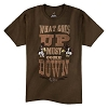 Disney ADULT Shirt - Splash Mountain - What Goes Up Must Come Down