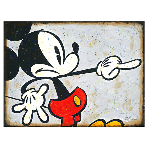 Your Wdw Store Disney Print Grey Mickey By Joe Kaminski