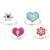 Disney Ring Set of 4 - Frozen Anna, Elsa, Snowflake, Flower