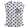 Disney LADIES Shirt - Minnie Mouse Dotted Floral Pocket Tee