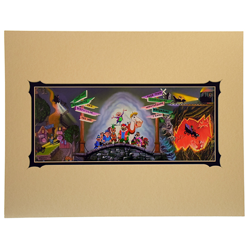 Your wdw store disney kurt raymond print mr toad mural for Disney world mural